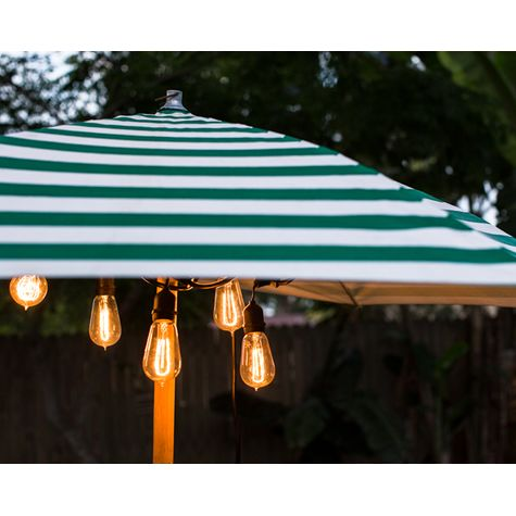 Café String Lights, 1890 Era 40w Edison Bulbs