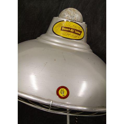 Desert-Air Lamp Co. Vintage Industrial Heat Lamp - Sticker Close Up