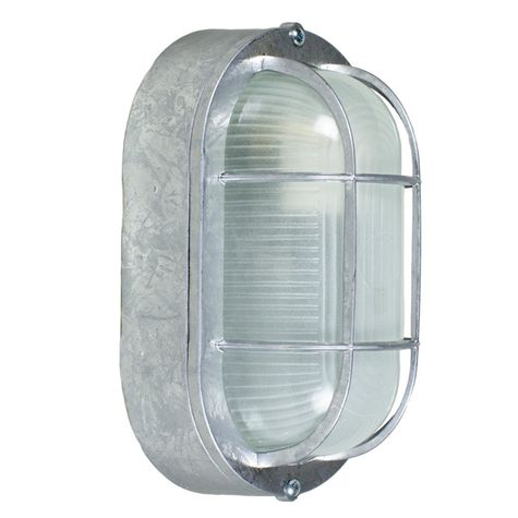 Amidships Bulkhead Wall Mount Light Fixture | Large, 975-Galvanized