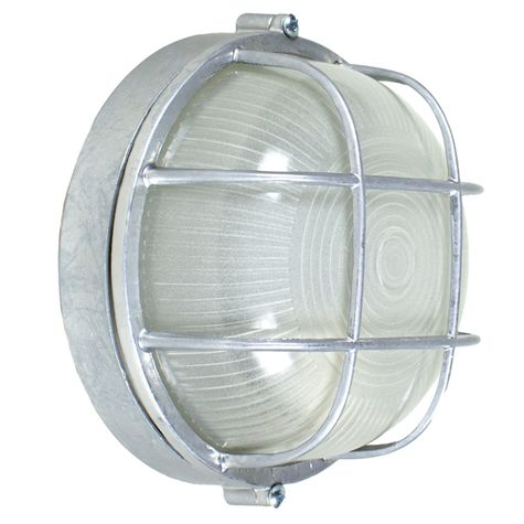 Anchorage Bulkhead Wall Mount Light Fixture Large Size, 975-Galvanized Finish