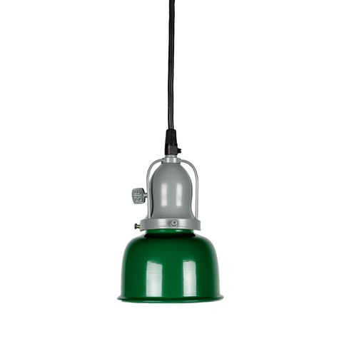 Fargo Pendant, 307-Emerald Green | Cup, 800-Industrial Grey, Paddle Switch, with Arms | SBK-Standard Black Cord