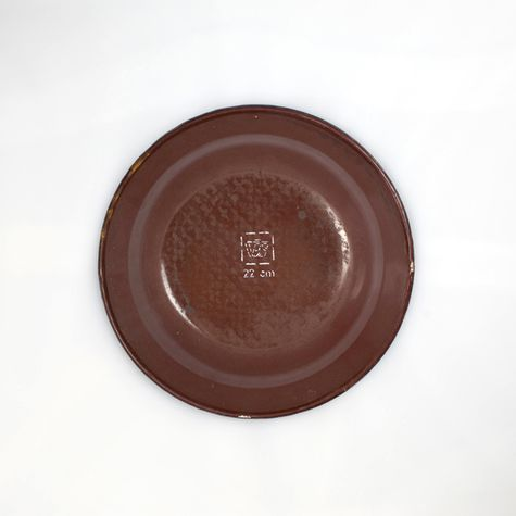 Vintage Brown Enamelware Soup Bowl - Bottom