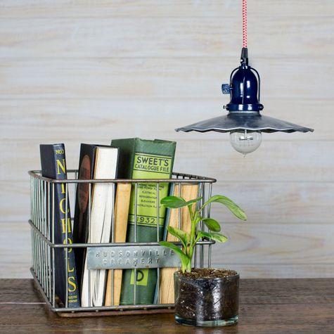 """10"""" Fluted Pendant, 975-Galvanized 