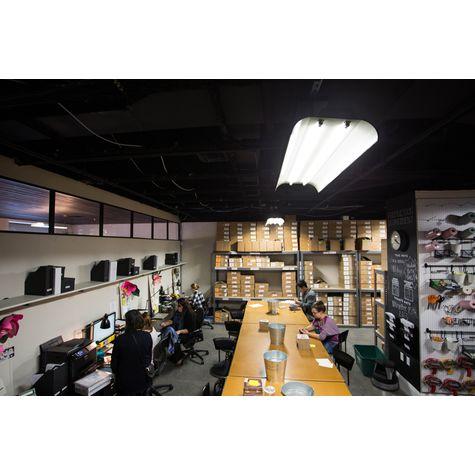 Architectural Fluorescent Shop Light, 100-Black   Rifle Paper Company, Winter Park, FL