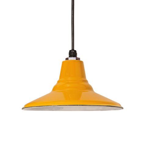 "16"" Porcelain Yellow Aero Shade"