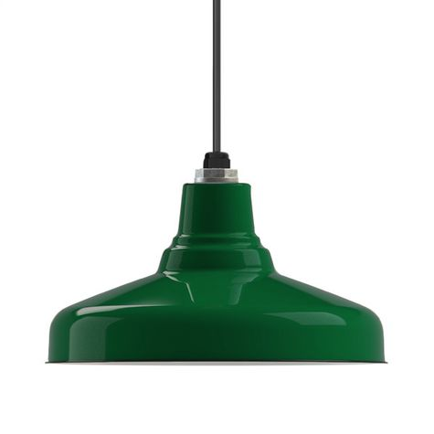 Porcelain Vintage Green Union Shade