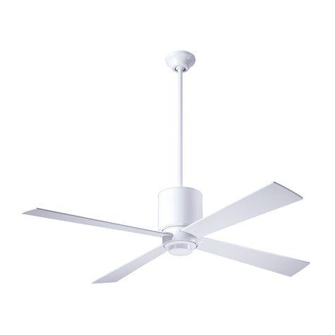 Lapa Ceiling Fan, Gloss White, White Blades
