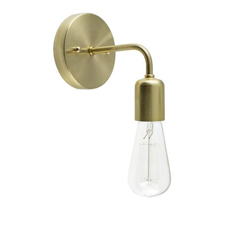 Downtown Minimalist Sconce, 997-Raw Brass, 1910 Era 40w Edison-Style Bulb