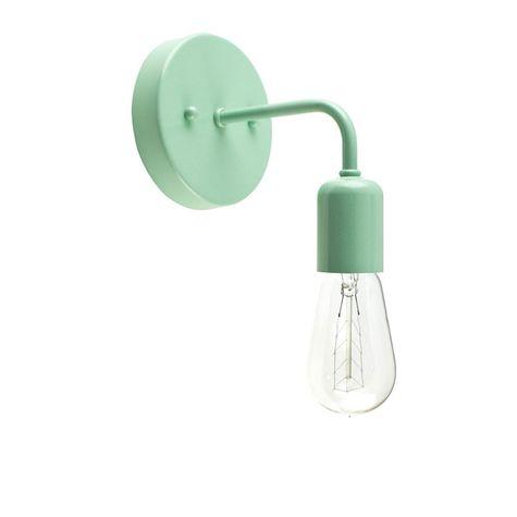 Downtown Minimalist Sconce, 311-Jadite PTMP, 1890 Era 40w Edison-Style Bulb
