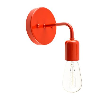 Downtown Minimalist Sconce, 420-Orange, 1890 Era 40w Edison-Style Bulb