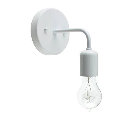 Downtown Minimalist Sconce, 200-White, Victorian 25w Edison-Style Bulb