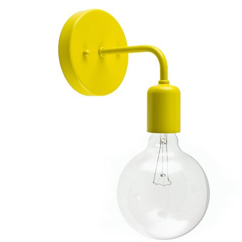 Downtown Minimalist Sconce, 500-Buttery Yellow, G30 40w Edison-Style Bulb