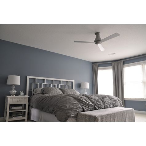 Altus Hugger Ceiling Fan, Brushed Aluminum | Customer Image