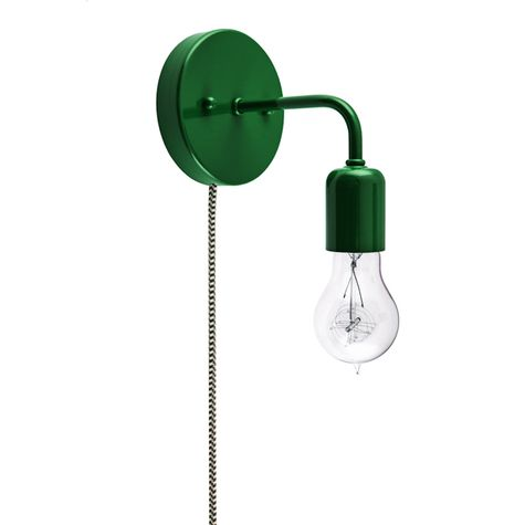 Downtown Minimalist Plug-In Sconce, 307-Emerald Green, Victorian 40w Edison-Style Bulb