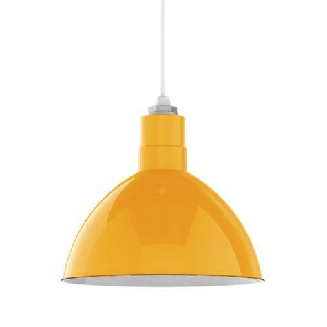 "16"" Porcelain Yellow Deep Bowl Shade"