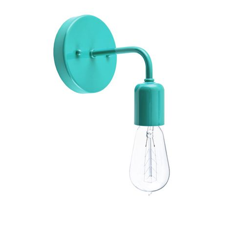 Downtown Minimalist Sconce, 390-Teal, 1890 Era 40w Edison-Style Bulb
