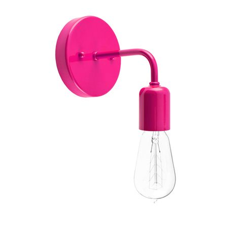 Downtown Minimalist Sconce, 490-Magenta, 1890 Era 40w Edison-Style Bulb