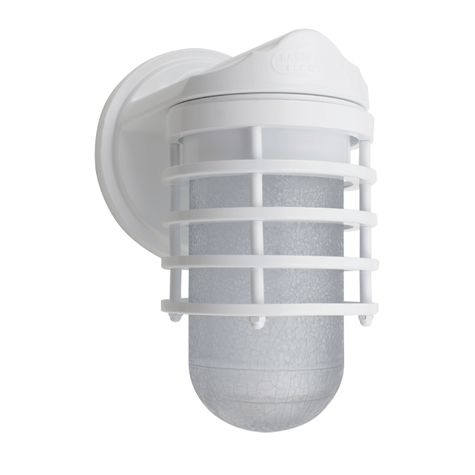 Industrial Static Topless Ring Sconce, 200-White, SMK-Smoke Crackle Glass