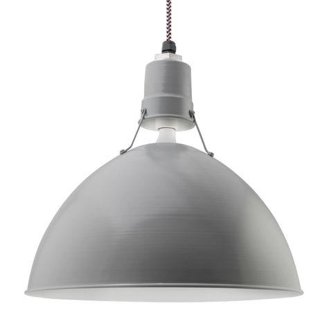 "18"" Wesco Uplight, 800-Industrial Grey, CSBP-Black & Pink Cloth Cord"