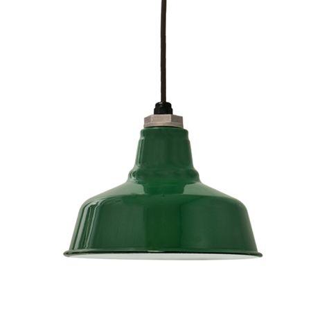 Porcelain Vintage Green Esso Shade