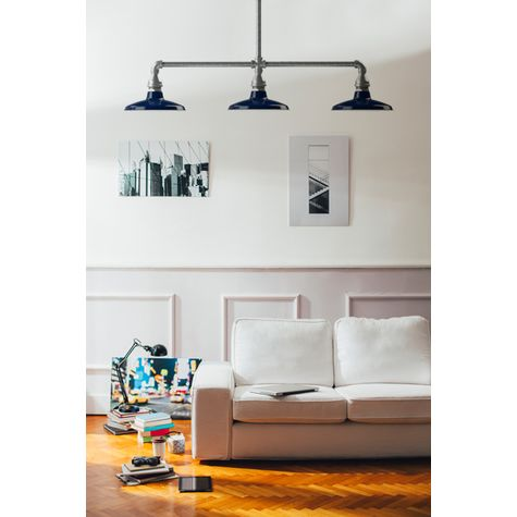 The Houston Street SoHo 3-Light Chandelier, 705-Navy