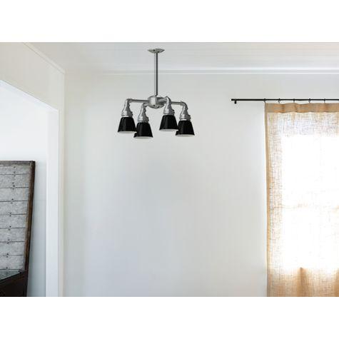 Lafayette Street SoHo 4-Light Chandelier, 100-Black, Standard Canopy