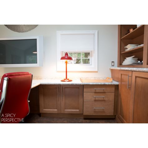 The Admiral Retro Desk Lamp, 400-Barn Red | Courtesy of A Spicy Perspective