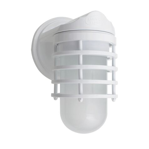 Industrial Static Topless Ring Sconce, 200-White, FST-Frosted Glass