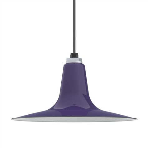 Porcelain Cobalt Blue Sterling Deep Cone Shade