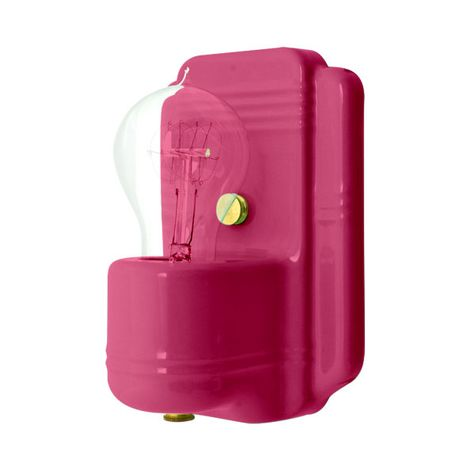 The Kao Wall Sconce, 490-Magenta, Nostalgic Edison-Style Victorian 25W Light Bulb