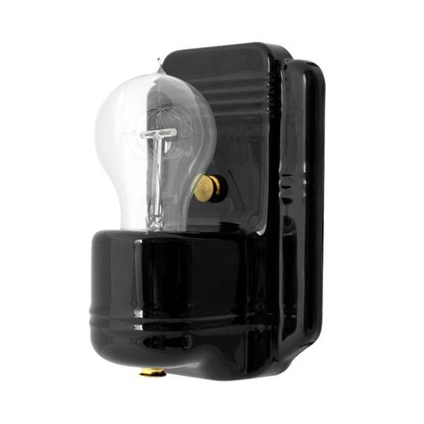 The Kao Wall Sconce, 100-Black, Nostalgic Edison-Style Victorian 25W Light Bulb