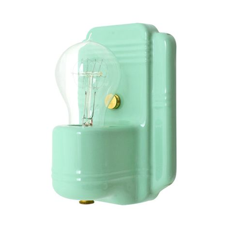 The Kao Wall Sconce, 311-Jadite, Nostalgic Edison-Style Victorian 25W Light Bulb