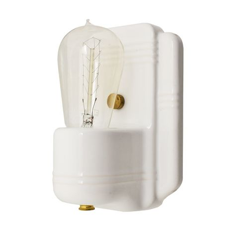 The Kao Wall Sconce, 200-White, Nostalgic Edison-Style 1890 Era 40W Light Bulb