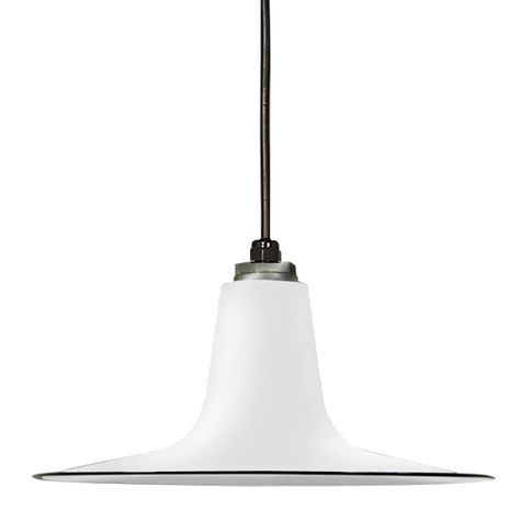 Porcelain White Sterling Deep Cone Shade