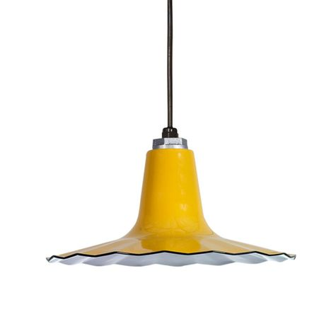 """14"""" Porcelain Yellow Radial Wave Shade"""