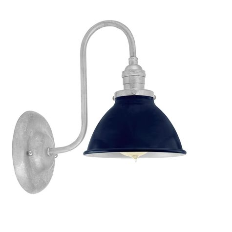 "6"" Getty Sconce, 705-Navy, Mounting in 975-Galvanized"