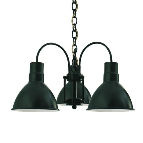 The Cairo 3-Light Chandelier, 300-Dark Green, CSBG-Black & Gold Cloth Cord