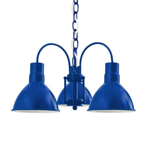The Cairo 3-Light Chandelier, 700-Royal Blue, SWH-Standard White Cord