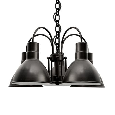The Cairo 5-Light Chandelier, 100-Black, SBK-Standard Black Cord