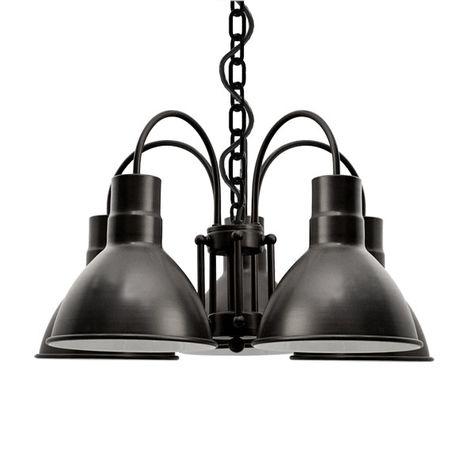 The Cairo 5-Light Chandelier, 100-Black, SBK-Standard Black Cord
