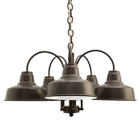 The Calico 5-Light Chandelier, 600-Bronze, CSGW-Gold & White Cloth Cord