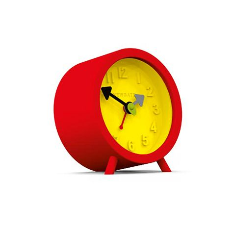 Fred Alarm Clock, Fire Engine Red & Citrus Yellow