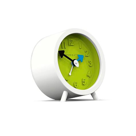 Fred Alarm Clock, Pebble White & Lime Green