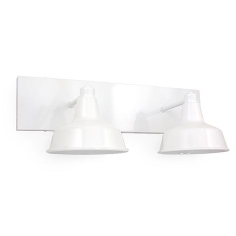Austin Double Straight Arm Vanity Light, 200-White