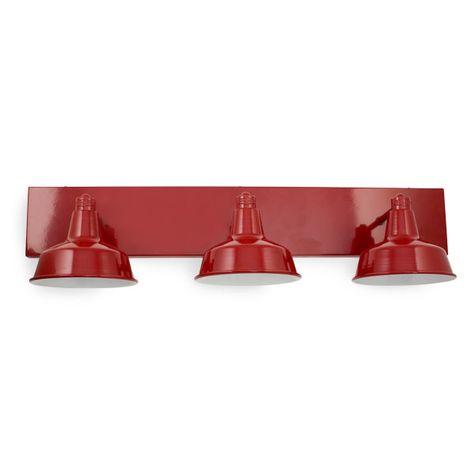 Austin Triple Straight Arm Vanity Light, 400-Barn Red