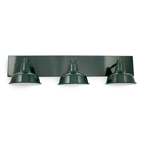 Austin Triple Straight Arm Vanity, 300-Dark Green