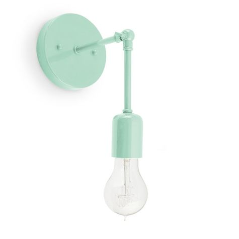 The Downtown Minimalist Knuckled Sconce, 311-Jadite, Nostalgic Edison-Style 1890 Era Victorian 40W Bulb