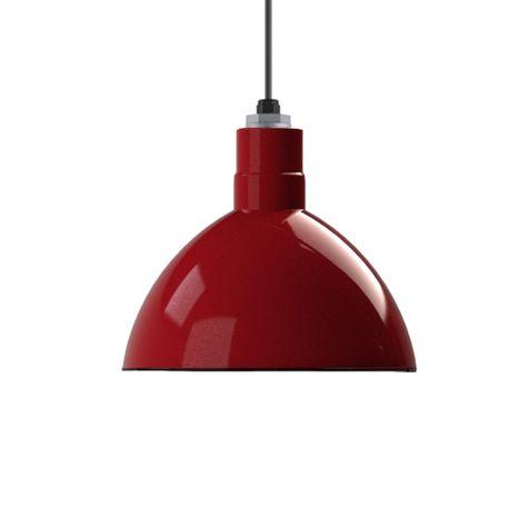 "12"" Deep Bowl Shade, 455-Cherry Red"