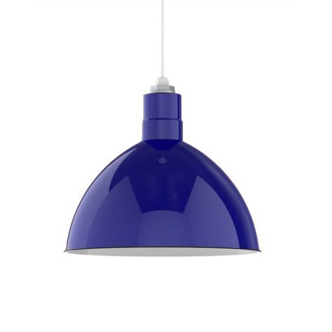 "16"" Porcelain Cobalt Blue Deep Bowl Shade"
