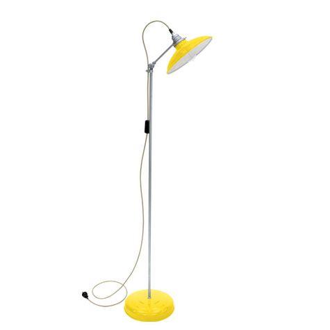Skylark Floor Lamp, 500-Yellow, Galvanized Stem, CSGW-Gold & White Cloth Cord, Nostalgic Edison 1890 Era 40W Bulb